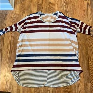 Striped spirit style high low top